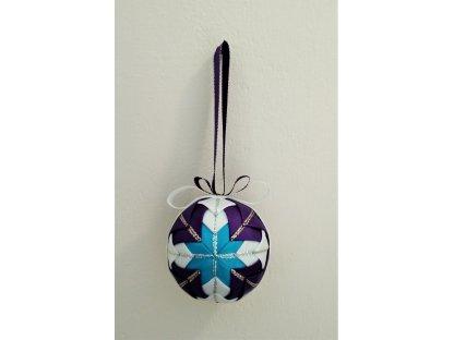 Dekorativní baňka fialová 14, vánoční, malá