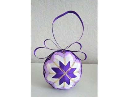Dekorativní baňka fialová 2, vánoční