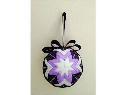 Dekorativní baňka fialová 5, vánoční