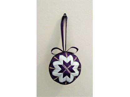 Dekorativní baňka fialová 8, vánoční, malá