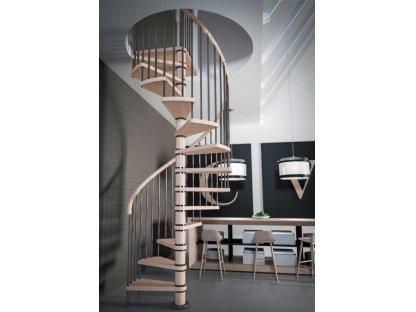Dřevěné točité schody COLUMBIA - průměr 140cm