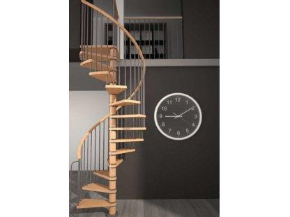 Dřevěné točité schody VEGA - průměr 140cm
