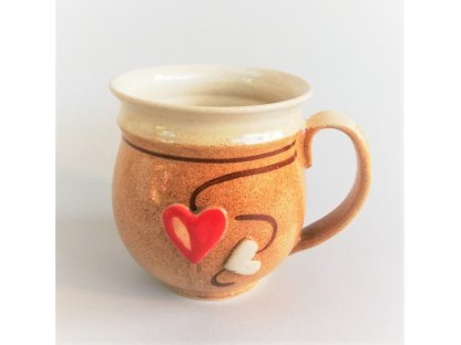 Hrnek 0,5 litru v barvě medu - kamenina