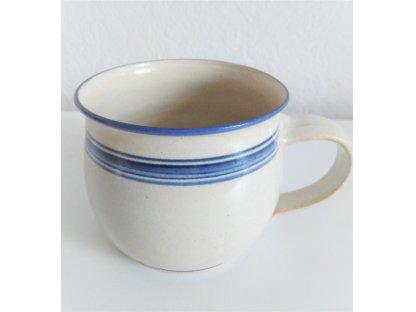 Hrnek modro-bílá kamenina - 0,75 l