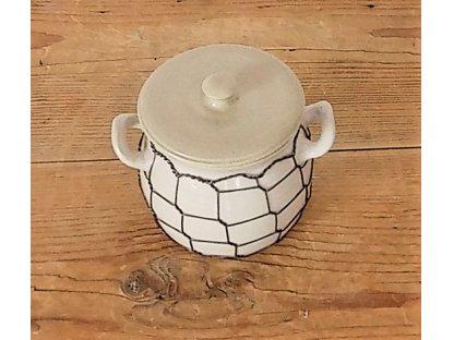 Hrnek na med nebo cukřenka, světlá drátovaná 0,55 l