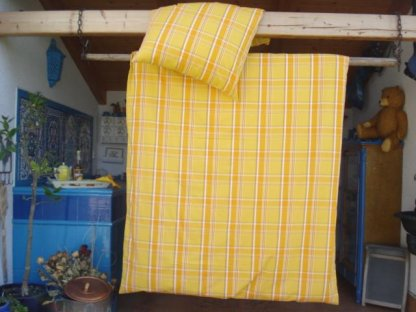 Kanafasové povlečení, Laura , přikrývka 140x220 + polštář 70x90
