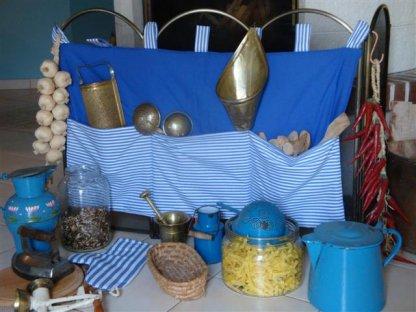 Kanafasový kapsář brilant, modrý, 90x50 cm