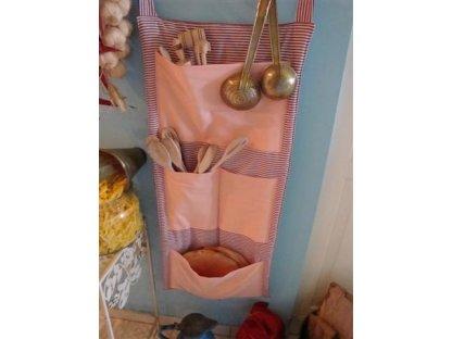 Kanafasový kapsář Ivuška růžová, 90x40 cm