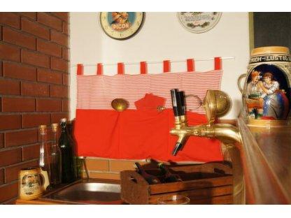 Kanafasový kapsář Míša 0,5+červená, 90x50 cm