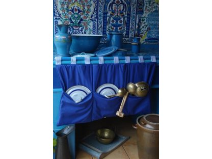 Kanafasový kapsář modrá royal, 90x50 cm