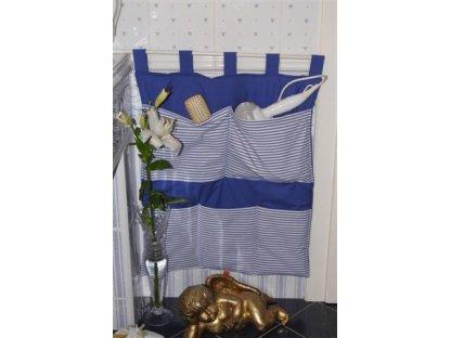 Kapsář kanafas Jiřina 1+modrá, 60x70 cm
