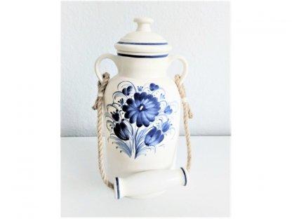 Keramická bandaska , 1,5 l modré květy