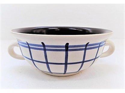 Keramická bujonka na polévku nebo guláš, pruhy, 0,4 l
