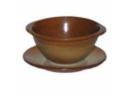 Keramická bujonová miska s úchytkami objem 0,33 litrů.Dana