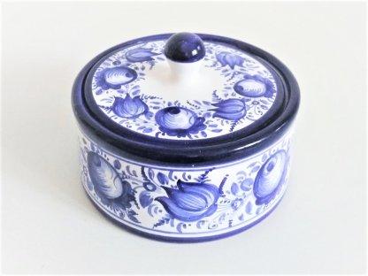 Keramická cukřenka velká, modrobílá