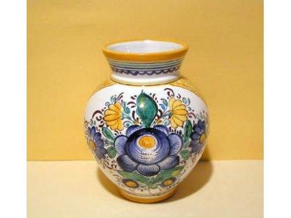 Keramická dekorační váza habánská