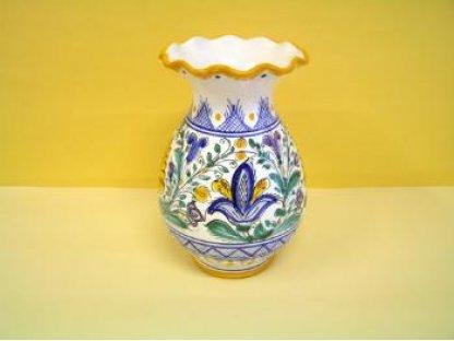 Keramická dekorační váza habánský styl
