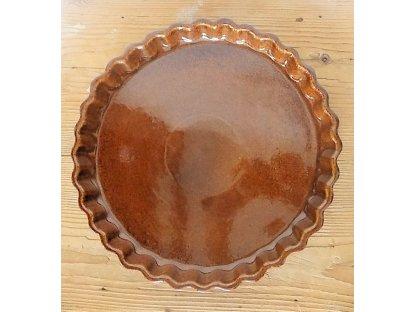 Keramická forma na koláč hnědá - kamenina