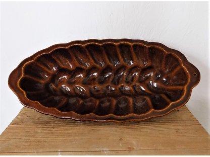 Keramická forma na pečení vánočka délka 41 cm, š.18 cm. v.7,5 cm, obsah 1 l