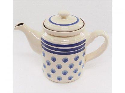 Keramická konvice na čaj - puntíky  4.