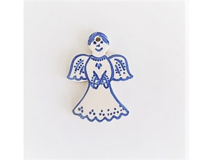 Keramická miniatura andílka 1.