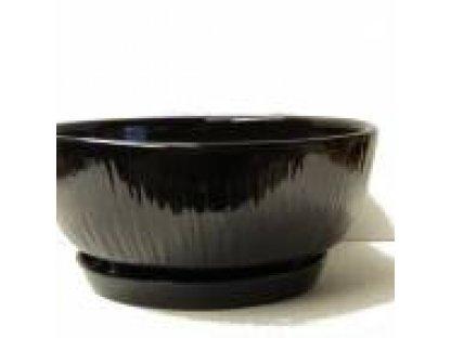 Keramická mísa, dekor 84, průměr 40 cm  s podmiskou-černá lesklá