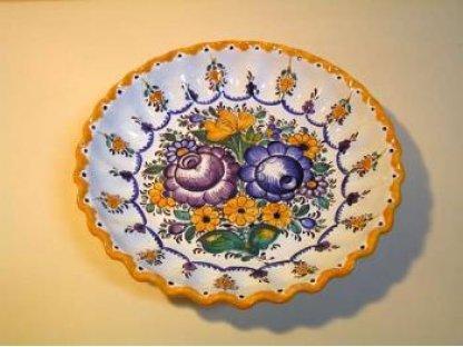 Keramická miska habánská - dekorační