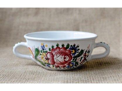 Keramická miska na polévku slovácká