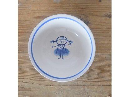 Keramická miska pro malé holky - culíkatá