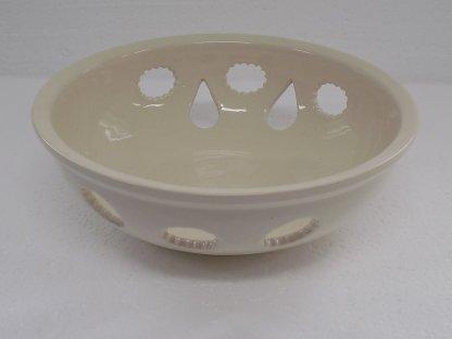 Keramická miska vykrajovaná bílá 14.