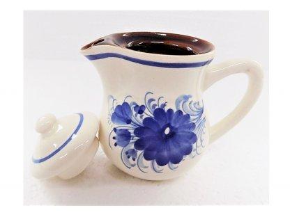 Keramická mlékovka na mléko ke kávě, čaji v. 12 cm - 8.