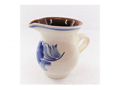 Keramická mlékovka na mléko ke kávě, čaji  v.9,5cm - 6.