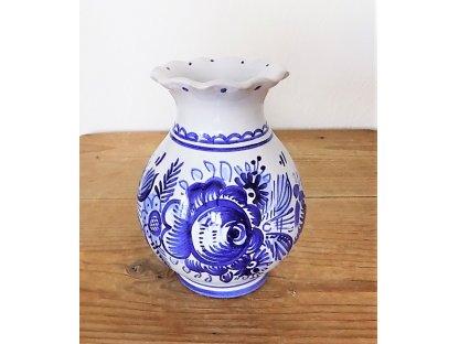 Keramická modro bílá váza malá