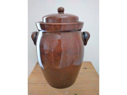 Keramická nádoba na ukládání zelí, Zelák buclák s uchy, 7 litrů