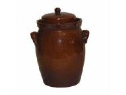 Keramická nádoba na uskladnění zelí, Zelák buclák s uchy 10 litrů