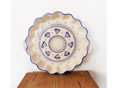 Keramická pečící forma na koláč modrá s hnědou - 15