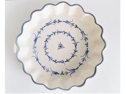 Keramická pečící forma na koláč vysoká - kola z kytek