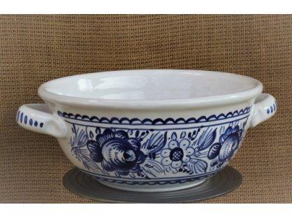 Keramická polévková mísa 20 cm - tupeská, modrobílá