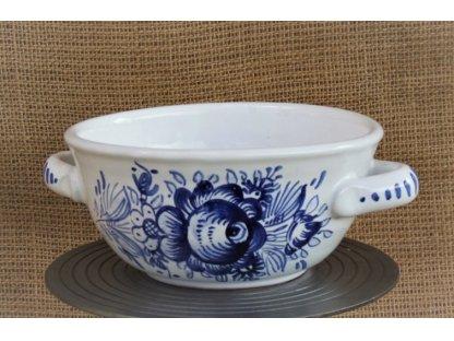 Keramická polévková miska 14 cm - tupeská, modrobílá