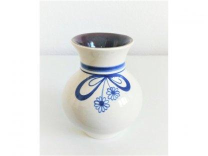 Keramická váza baculatá mašle z kytek