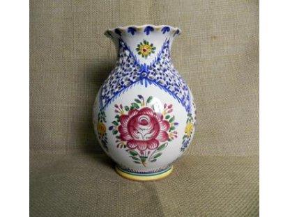 Keramická váza s vlnkou, slovácká