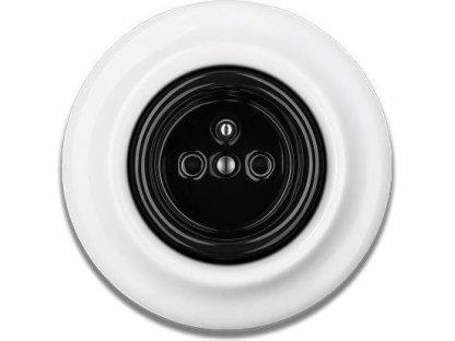 Keramická zásuvka černobílá STIGMA - 76