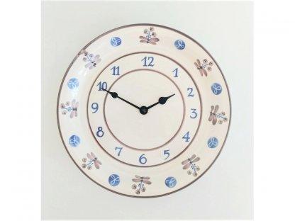 Keramické hodiny modrá s hnědou
