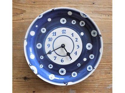 Keramické hodiny modré