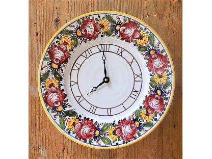 Keramické malované hodiny TU, slovácké