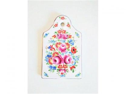 Keramické malované prkénko - Chodské