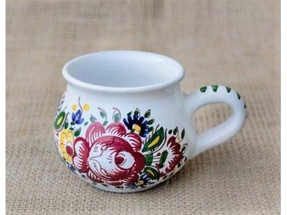 Keramický baňatý hrnek na čaj, kávu - slovácký