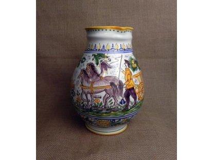 Keramický džbán s oráčem