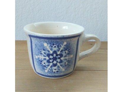 Keramický hrnek bílý modrá vločka 0,4 l
