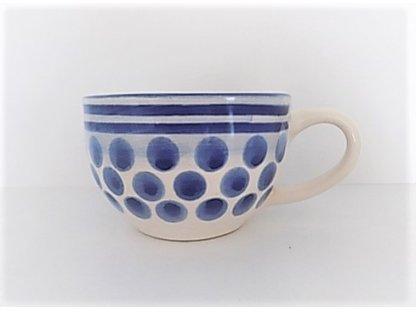 Keramický hrnek na čaj, kávu s puntíky